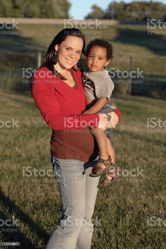 Mother Son Portrait royalty-free stock photo