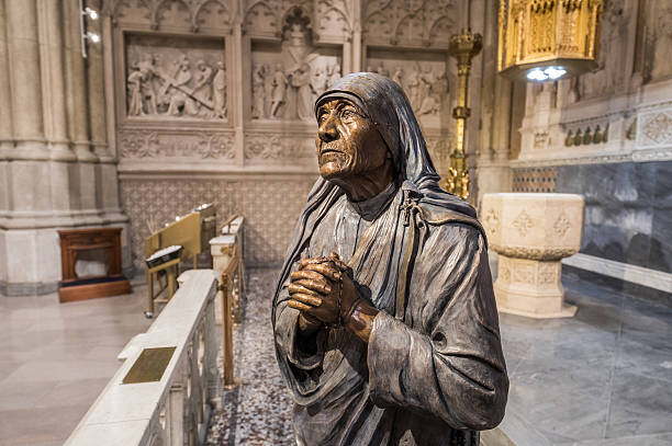 Mother Teresa in St. Patrick's Cathedral, New York City, USA stock photo