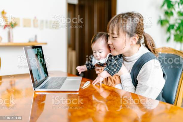 Mother videoconferencing with doctor on laptop at home picture id1210142119?b=1&k=6&m=1210142119&s=612x612&h=obkzzrpzyzo2u4qgn60n8soorurf4w27 m3   vj4kw=