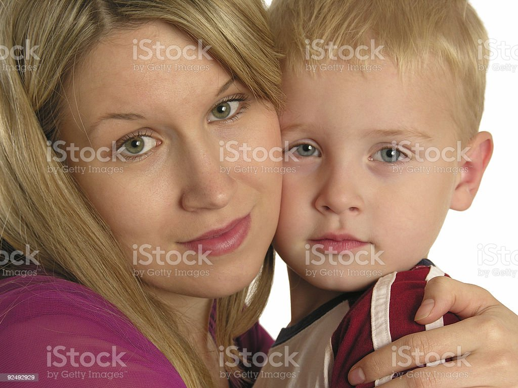 mother with child closeup royalty-free stock photo
