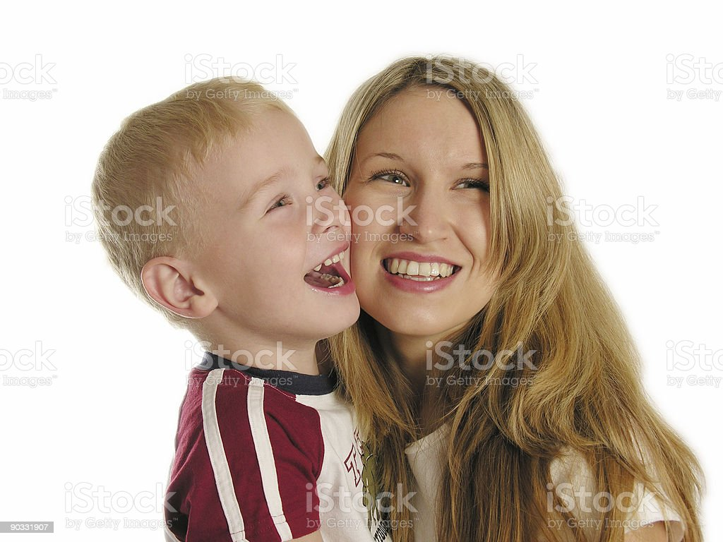 mother with child smile stock photo