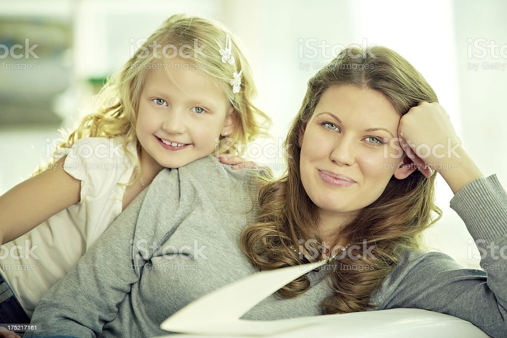 Mother with daughter royalty-free stock photo