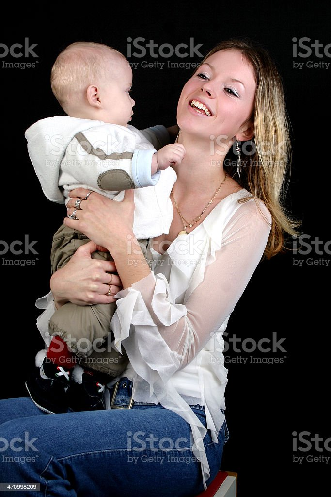Mother with her baby royalty-free stock photo