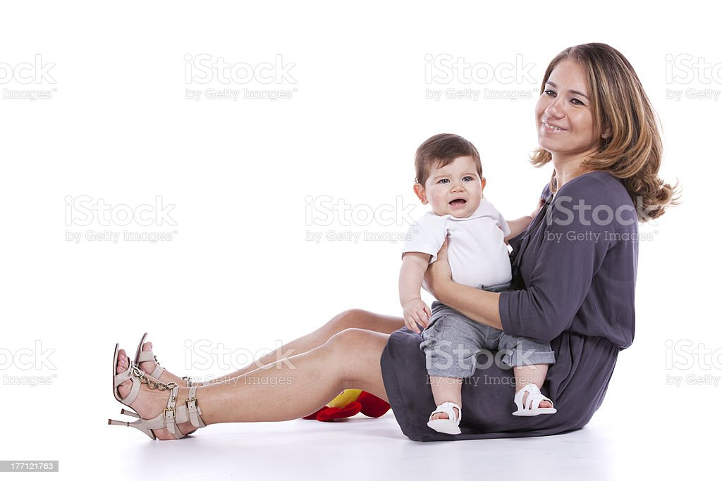 Mother with her baby son royalty-free stock photo
