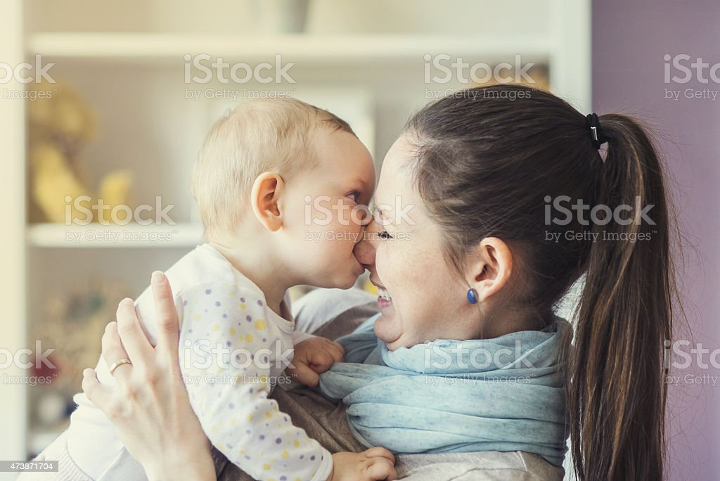 Mother with her daughter stock photo