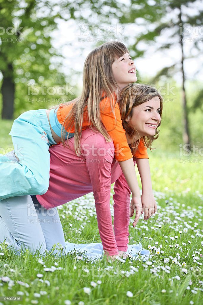 Mother with her daughter. royalty-free stock photo