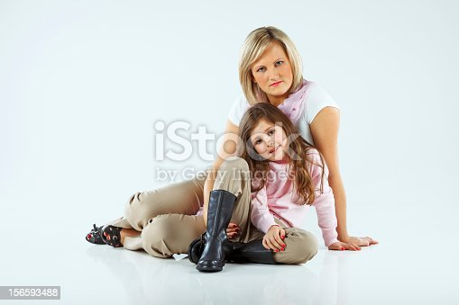 istock Mother with her little girl 156593488