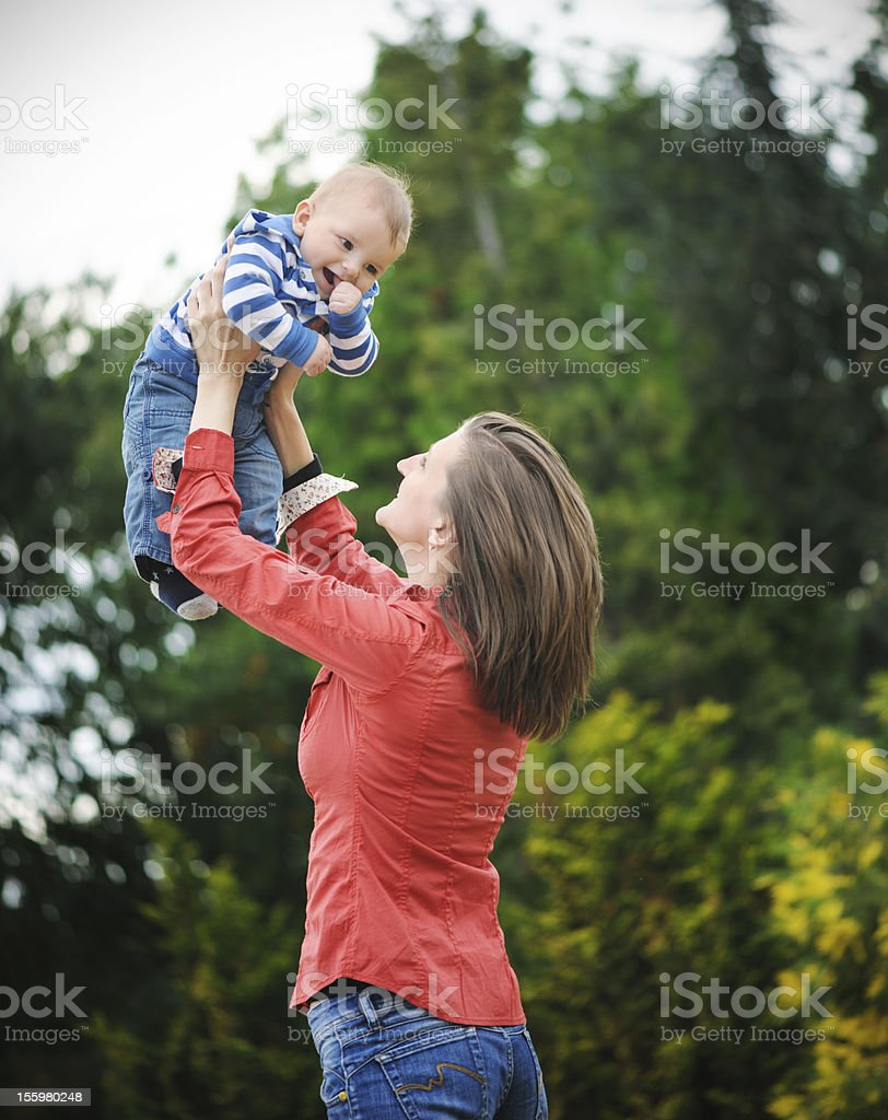 Mother with her son royalty-free stock photo