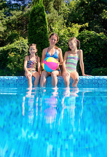 two kids swimming underwater in a pool pictures images and stock photos - Kids Swimming Underwater