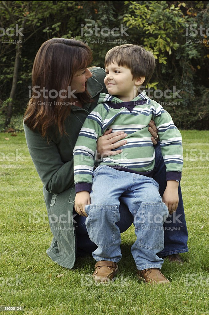 Mother with son royalty-free stock photo