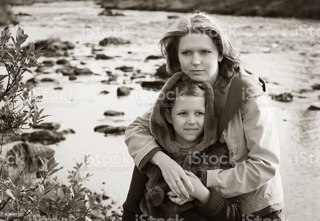 Mother with the daughter royalty-free stock photo