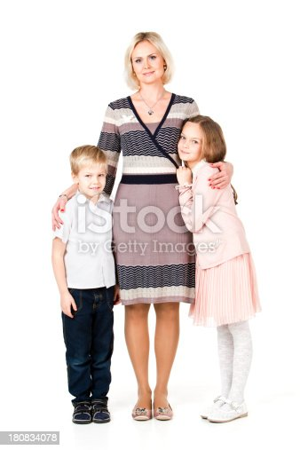172407626 istock photo Mother With Two Children 180834078