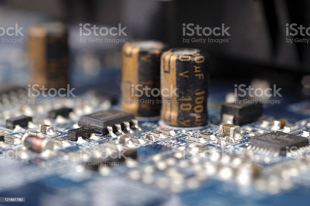 motherboard close up royalty-free stock photo