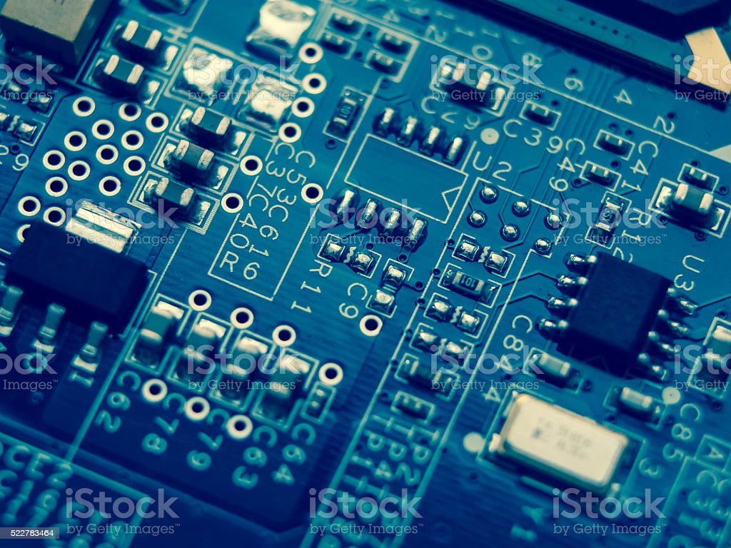 Motherboard Components Stock Photo More Pictures Of Cpu Istock Electronic Wallpaper Royalty Free