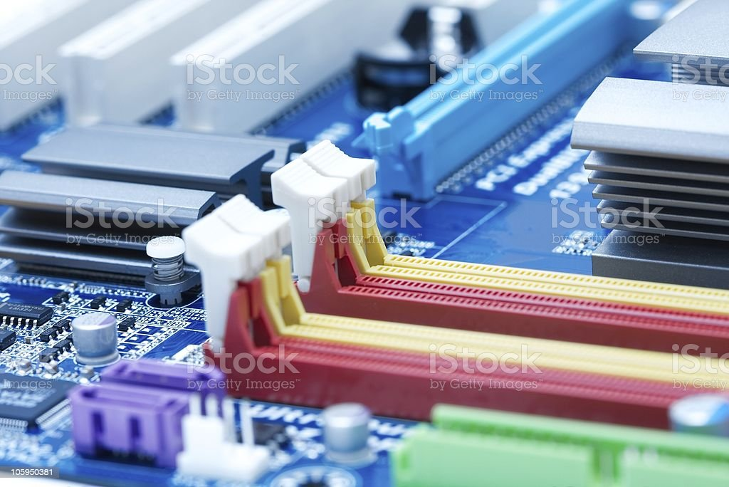 Motherboard royalty-free stock photo