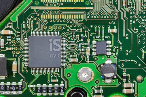 Printed circuit board - Motherboard, closeup