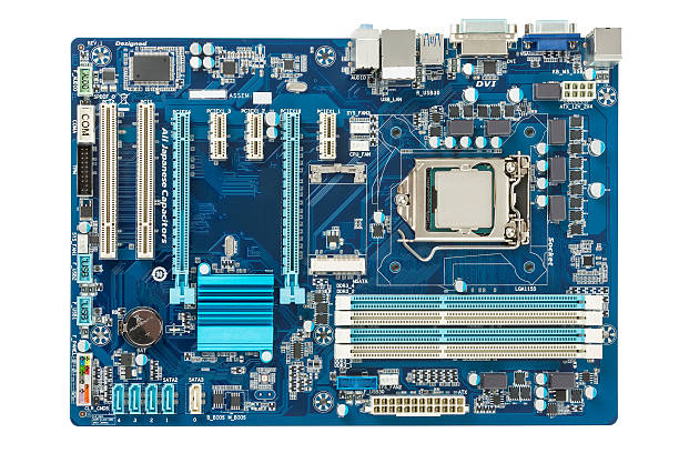 motherboard top view - mother board stock photos and pictures