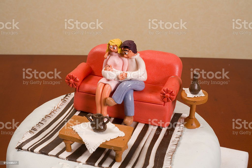 mother,dad and baby royalty-free stock photo