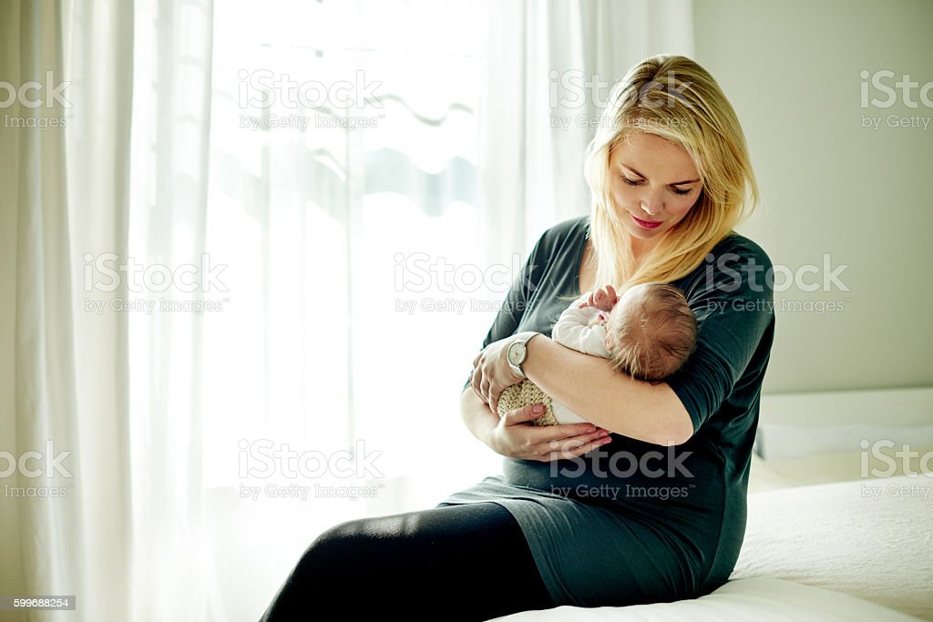 Motherhood is such a glorious blessing stock photo