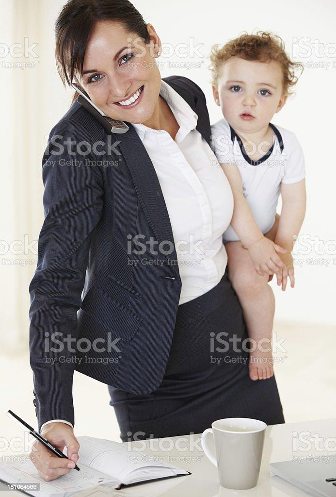 Motherhood on the go! royalty-free stock photo