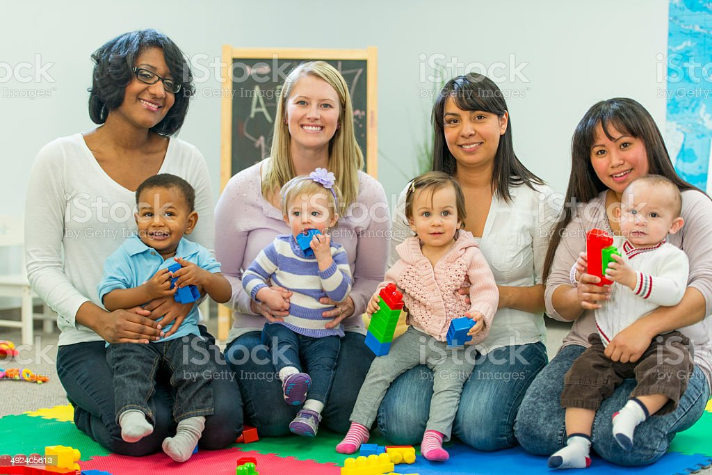 Mothers and Babies stock photo