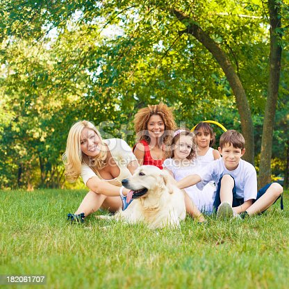 istock Mothers and children enjoy outdoors. 182061707