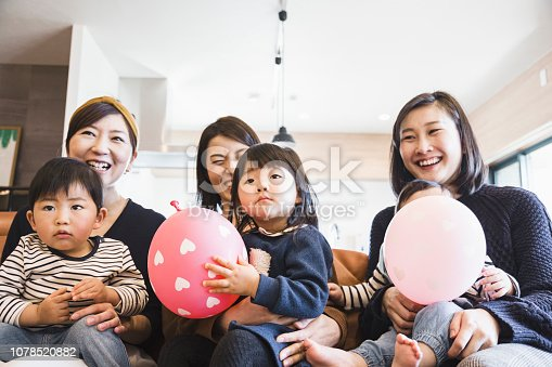 1152545468 istock photo Mothers and kids watching TV 1078520882