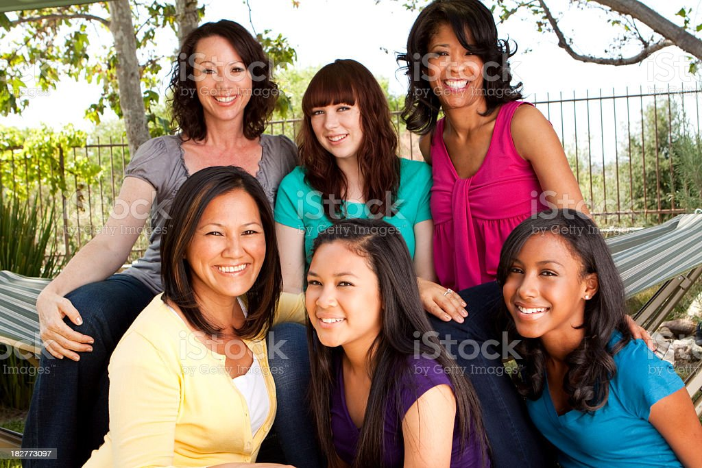 Mothers and Teenage Daughters royalty-free stock photo