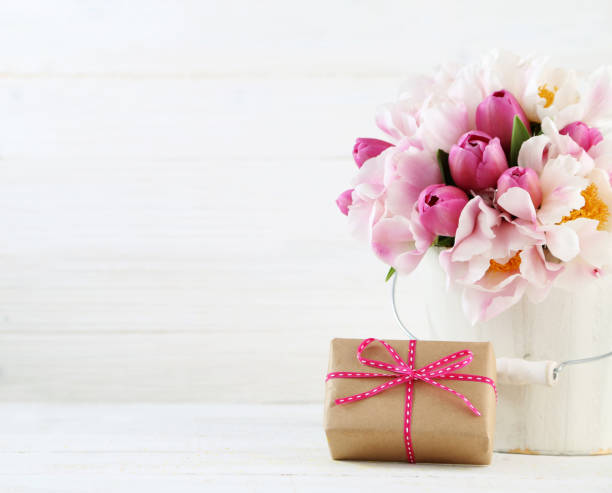mother's day arrangement stock photo