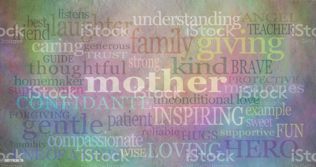 Mother's day background banner stock photo