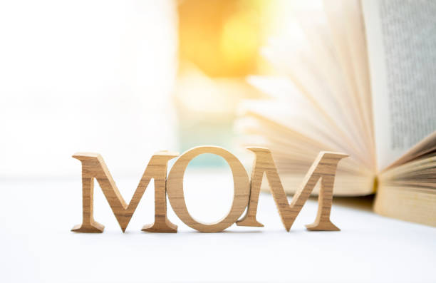 mother's day concept background - happy mothers day type stock photos and pictures