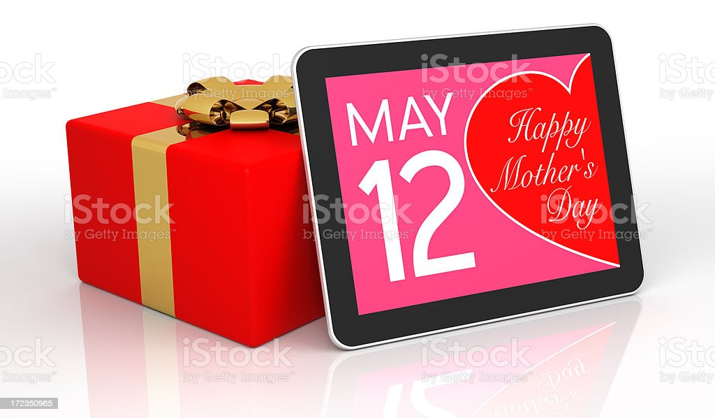 Mother's Day Digital Calendar royalty-free stock photo