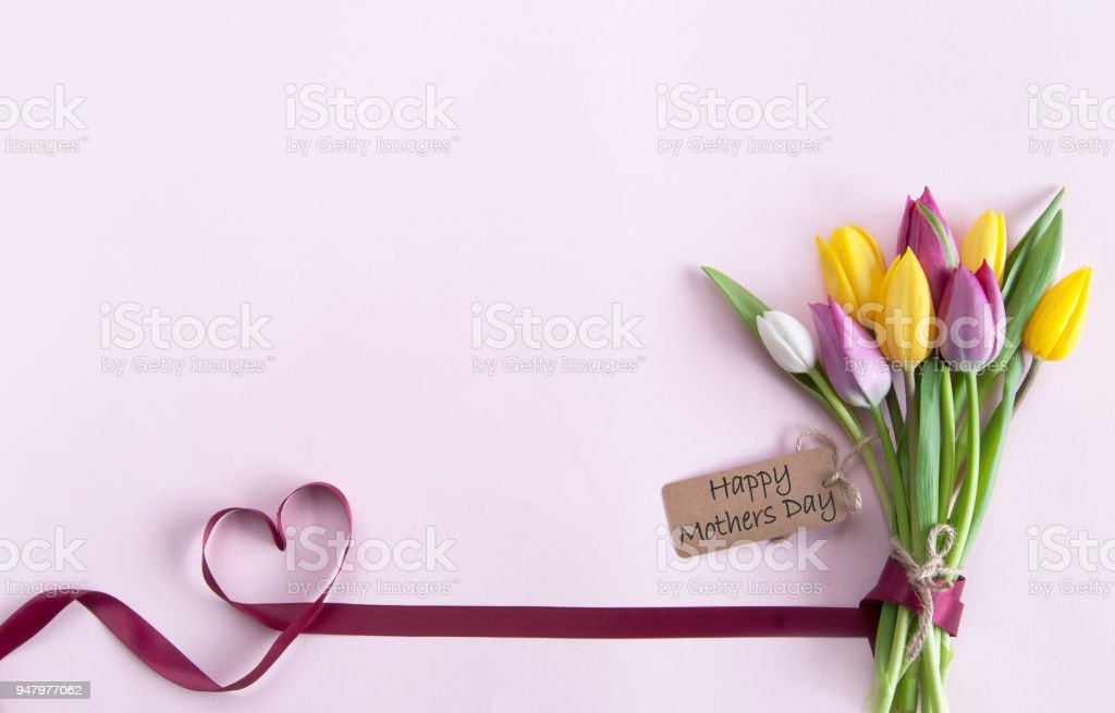 Mothers day flowers background stock photo