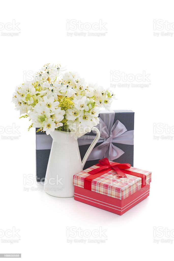 Mother's Day Gift with flower royalty-free stock photo