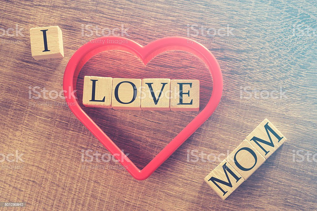 Mother's Day message stock photo