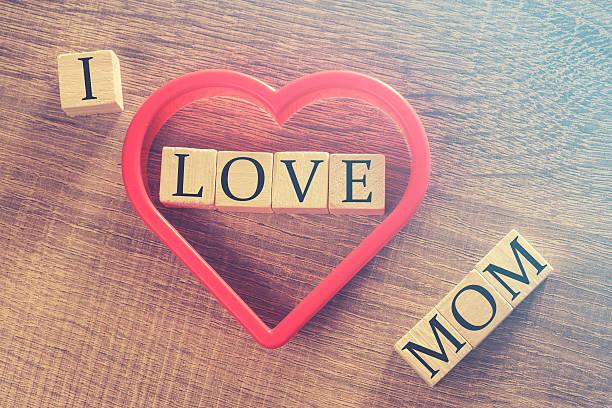 mother's day nachricht - herz zitate stock-fotos und bilder