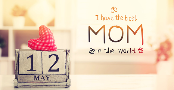 Mothers Day message with calendar