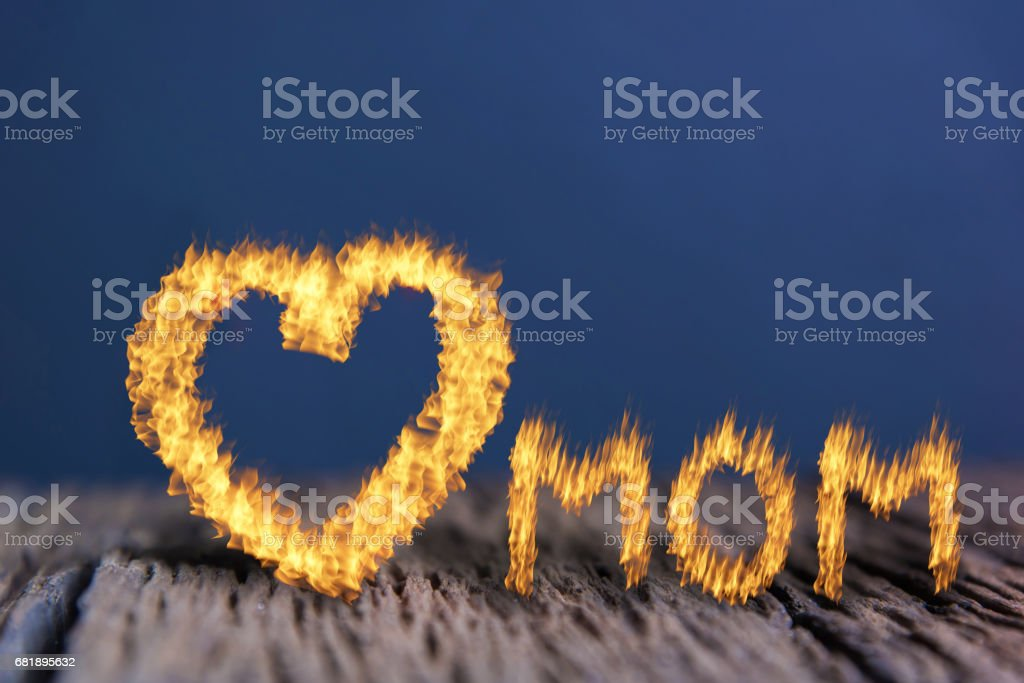 Mother's Day,Love mom stock photo