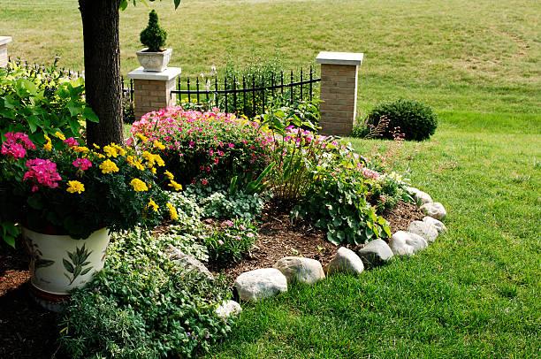 Mother's Flower Garden stock photo