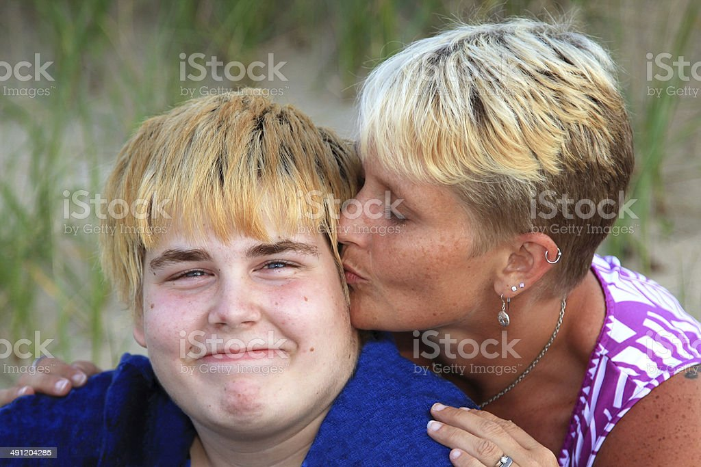 Mother's Kiss stock photo