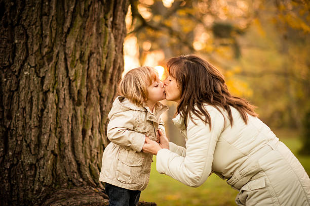 Mother's sunset kiss – Foto