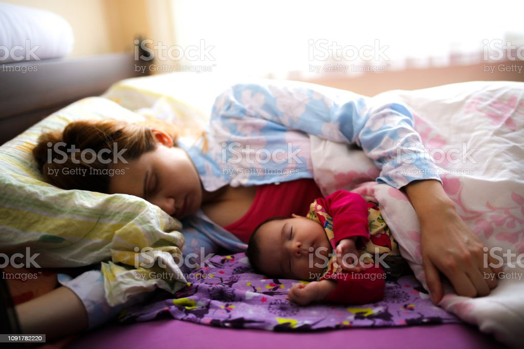 Mother's tenderness royalty-free stock photo
