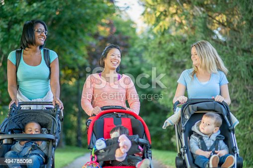 istock Mother's Walking with their Kids at the Park 494788098
