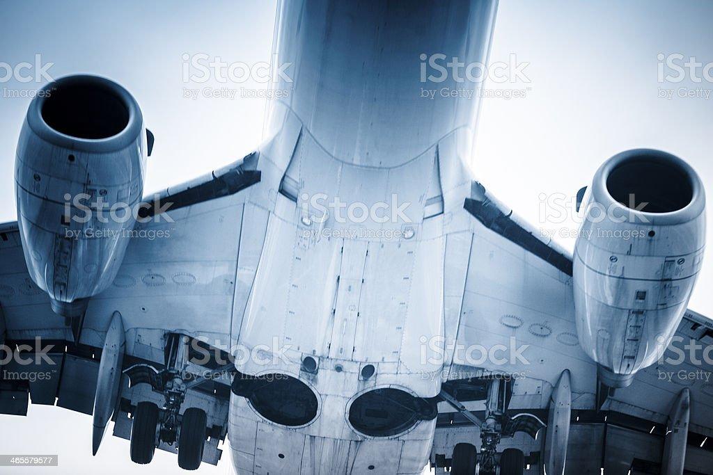 motion airplane royalty-free stock photo