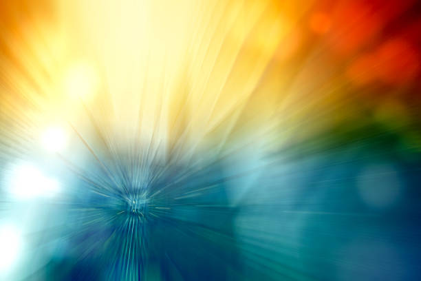 Motion Blur Abstract Background Blue Red Yellow Turquoise with Bokeh - foto de stock
