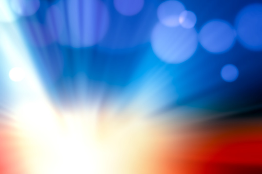 Motion Blur Abstract Background Blue Red Yellow With Bokeh