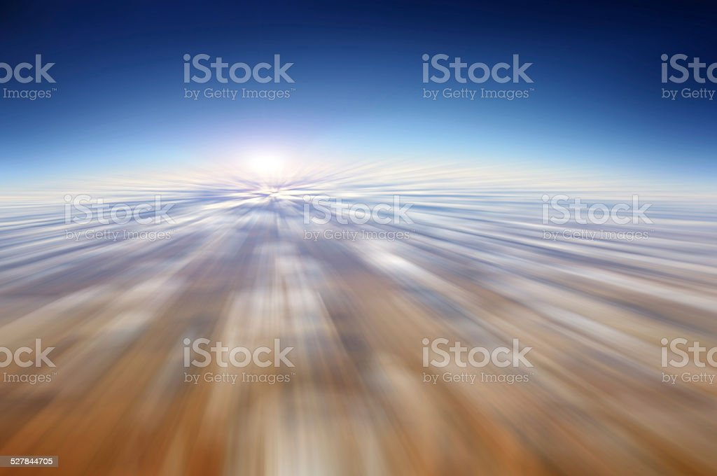 Motion blur abstract background - fast moving in the sky stock photo
