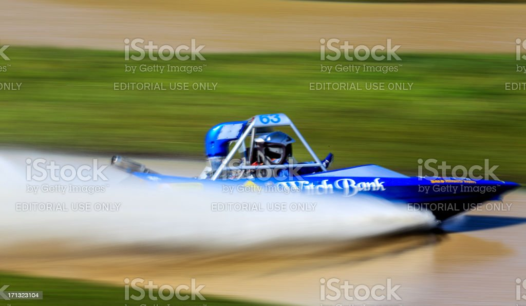 Motion blur at the Australian Jet Sprint Boat championship 2012 stock photo