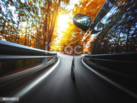 688980174istockphoto motion blur car on the road 893440912
