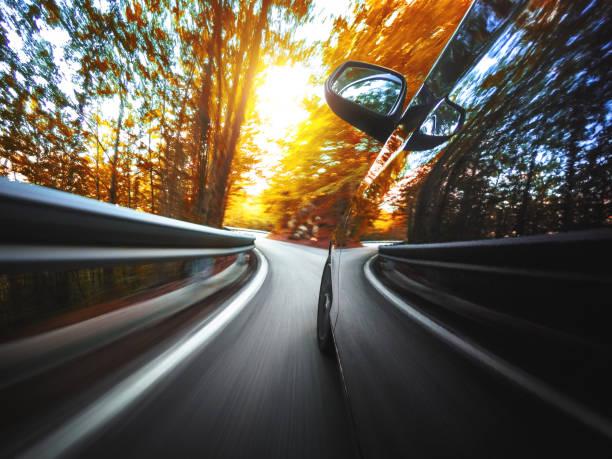 Bewegungsunschärfe Auto auf der Straße – Foto
